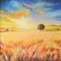 Golden field by Cora-Tiana