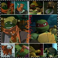 TMNT:: Mikey and Klunk, Raph and Spike by Culinary-Alchemist