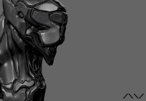 Alien Pilot 2 Hour Sculpt ZBrush Banner by ViceNoctis
