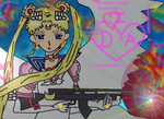 Eternal Sailor Moon  has a  gun my da id by TanithLipsky