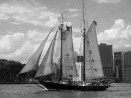 Pirates in Manhattan - Black and White by JaclynLop818