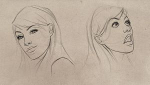 FACIAL EXPRESSIONS I by giselleukardi