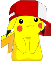 Pikachu in Ash's hat by jdrabble02
