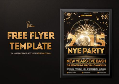 Free New Years Eve Flyer Template by saltshaker911
