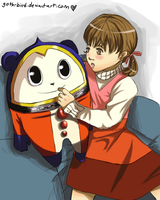 Persona 4 : Teddie Bear by goth-bird