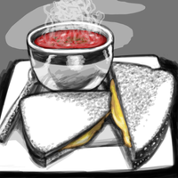 Day 3: Favorite Food- Tomato Soup + Grilled Cheese by Chi-tenshi