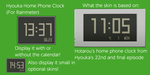 Hyouka Home Phone Clock (For Rainmeter) by TheWolfBunny