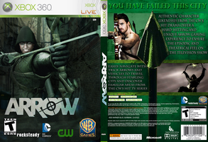 CW's ARROW XBOX 360 VIDEO GAME COVER by pepsiguy2
