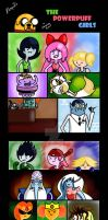The powerpuff girls in A. T. bodies complete by Xcoqui