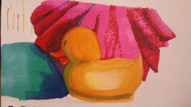 Duck in the tube (study) by Nina4Short
