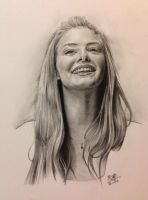 Pencil drawing of Tamsin Egerton by chaseroflight