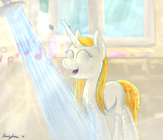 Shower Time by LumenGlace