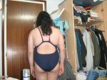 black swimming swimsuit back by aet256