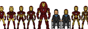 Iron Man armor room (Marvel Earth-616-19999) by LoganWaynee