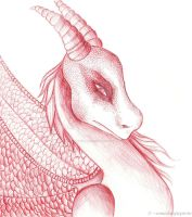 Red dragon by Clairvoyantartistry