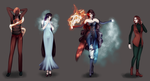 D-v/1+3: Characters by KristinaWaldt