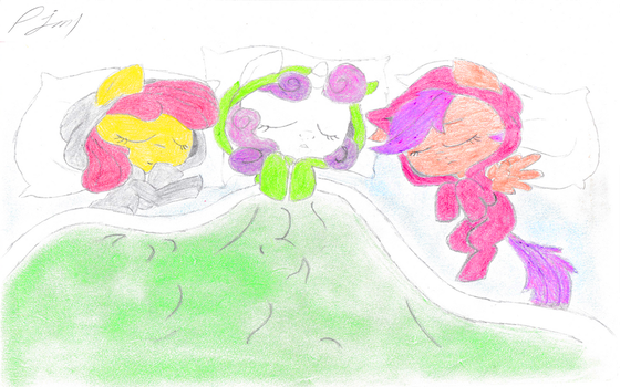 Slumber Party Of The Cutie Mark Crusaders by prodigyjm1