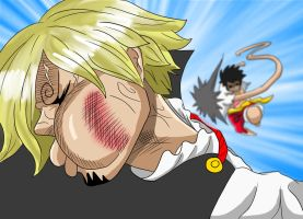 Luffy Golpea A Sanji (One Piece CH. 856) by bryanfavr