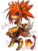 Ryo's Sister Linilla the hedgehog ( new oc ) by Omiza