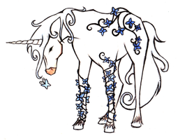 Unicorn Tattoo Design by littlenatnatz101