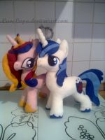 Cadance and Shining Armor Plush by CaveLupa