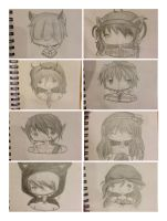 Free sketches completed by Mainecare