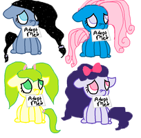 3 point pony adopt! 2/4 open by Meadow-Leaf