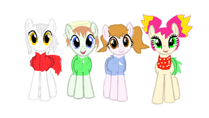 Fossil Fighters Heroes Main Characters- Ponified! by Rupert-Kaseki