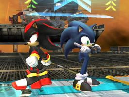 SSBB-Sonic and Shadow by Advent-Axl
