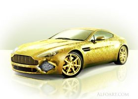 Golden cover for Aston Martin by AlexandraF