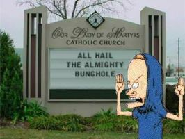 The 1st Church of Cornholio by DarthEd