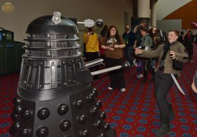 Dalek Attacking Torrin by DarrianAshoka