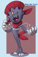 Day 26- Weavile by Animatics