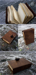 Smudgy Leather Book by Nymla