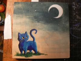 Cat and the Moon by keysan