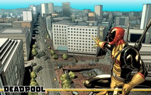 Deadpool The View Wallpaper by MarteGracia