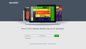 Digital Library Login Screen by mcsiswanto
