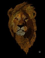 Typographic Lion by HowseholdGraphics