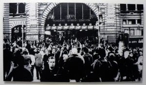 Flinders St Station Corssing by kirpy