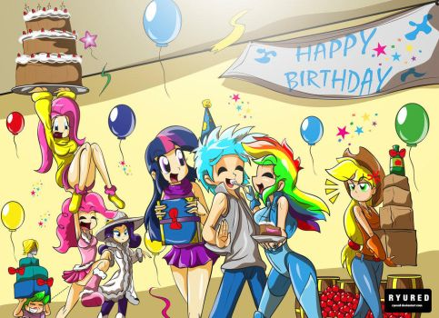 Frost Stars Birthday by stcole1