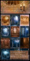 Golden Blue backgrounds.. by moonchild-ljilja