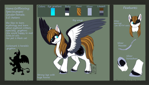GriffinWing_Ref sheet by Husky-Foxgryph