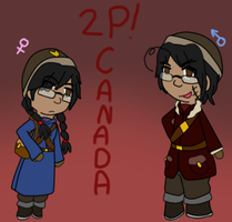 the 2p!Canadas by poi-rozen