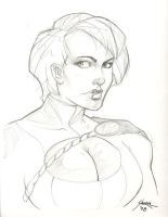 Power Girl Sketch by gravyboy