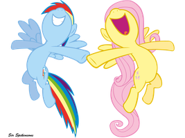 Awesome flying singing Duo by SirSpikensons