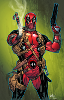 Deadpool by Guile Sharp colored by DanOlvera