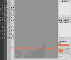 Flat GIMP icon Theme V 2.1 by android272