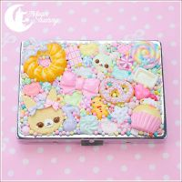 Mixed candy Cigarette case by CuteMoonbunny