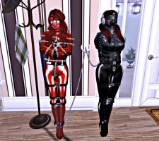 Red and Black Dolls by Aksanka93