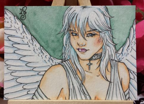 OC Rain - ACEO by ParadoxSketchbook